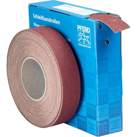 Rouleau de papier abrasif PFERD 45016406 Grain num 60 (L x l) 25 m x 38 mm 25 m