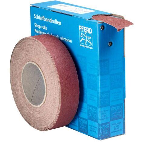 Rouleau de papier abrasif PFERD 45016408 Grain num 80 (L x l) 25 m x 38 mm 25 m
