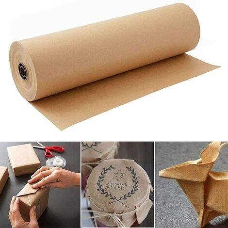 """main image of """"Rouleau de papier kraft marron - 30 cm x 30 m - Papier recyclé naturel pour emballer des cadeaux, bricoler, stocker, emballer, expédier, paquet de papier décoratif"""""""