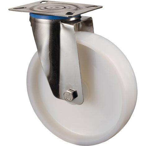 Rouleau de renvoi A90 Ø de la roue 150 mm Capacité de charge 3 plastique Longueur du plateau129xl106 mm
