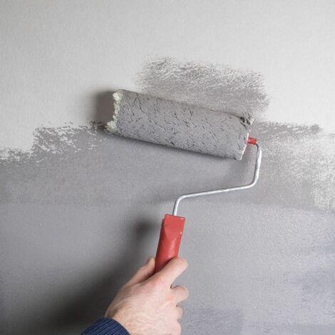 Rouleau fibre de verre blanc à peindre diamant moyen 25m x 1m pré-traité 140g/m²