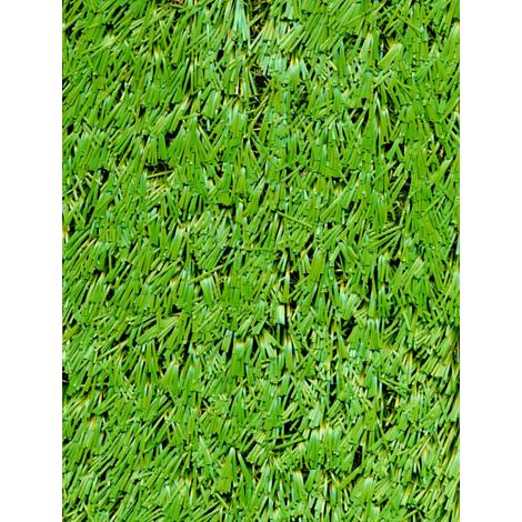 Rouleau gazon artificiel d'extérieur en polypropylène coloris vert - Dim : 4m x 25m- PEGANE -
