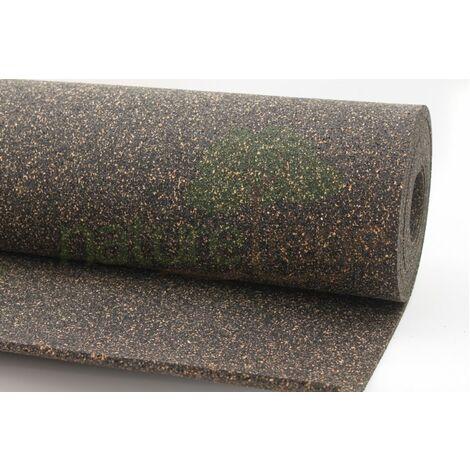 Rouleau isolant liège et caoutchouc 70/30 NOVAFLEX AESOUND - 30% liège - 70% caou. épaisseur 6mm   5m x 1m = 5m²