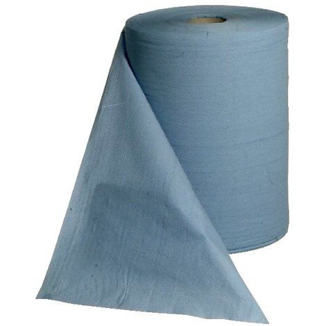 Rouleau papier Bleu - 3 pli 38x36cm 500 feuilles (Par 2)