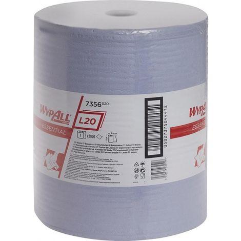 Rouleau papier bleu