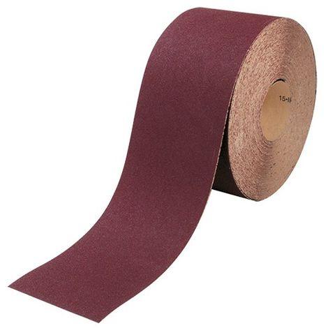 Rouleau papier corindon brun 120 mm x 25 m Gr. 180 pour bois et métal - 8212018 - Leman