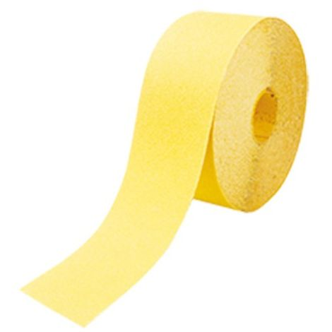 Rouleau papier corindon jaune 120 mm x 25 m Gr. 180 pour bois - 12625.180 - Leman