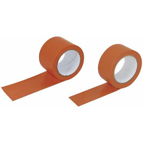 ROULEAU PVC SOFOP TALIAPLAST ORANGE LISSE 75 MM 33 MÈTRES -600302 - -