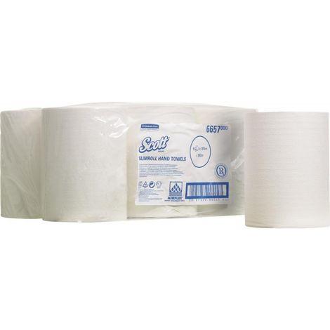 Rouleau serviette papier SCOTT blanc, 1-l.,6R. pour 11833 (Par 6)