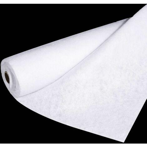 Rouleau tapis pour sapin de Noël effet feutrine - L. 100 x l. 200 cm - Blanc - Blanc