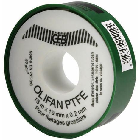 Rouleau TEFLON PTFE gros diamètre 19mmx15m-épaisseur 0,2mm