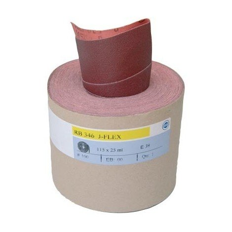 """main image of """"Rouleau toile abrasive HERMES Rb 346 J-flex - grain 120 – 115x25m - 6147409"""""""