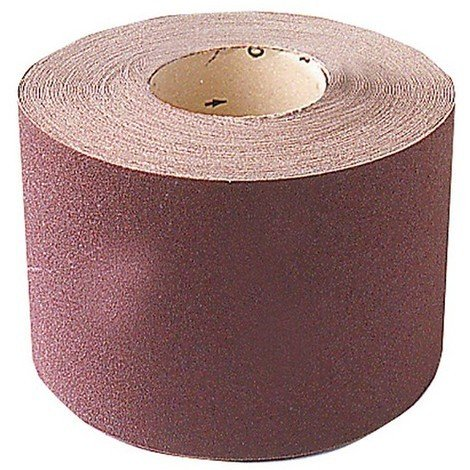 Rouleau toile souple corindon brun 115 mm x 25 m Gr. 220 pour bois et métal - 11525.220 - Leman