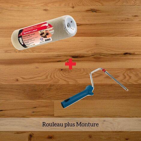 Rouleau Toplak pour huile et vitrificateur solvantés - 18cm Avec monture -