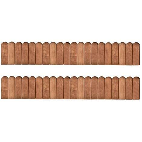 Rouleaux de bordure 2 pcs 120 cm Bois de pin imprégné