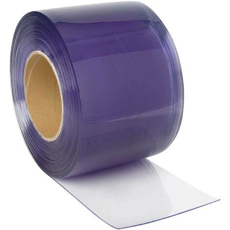 Rouleaux de lanières PVC transparentes - 300 x 3 mm - 25m