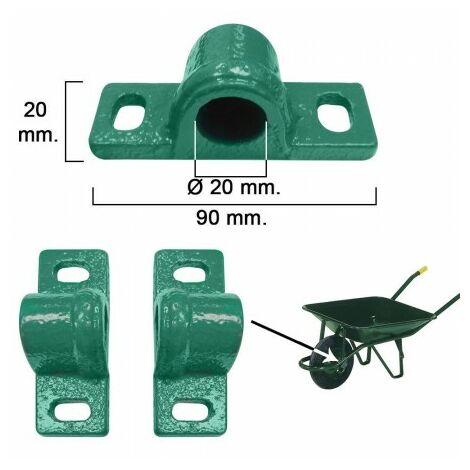 Roulement de brouette oeuvre verte métallique