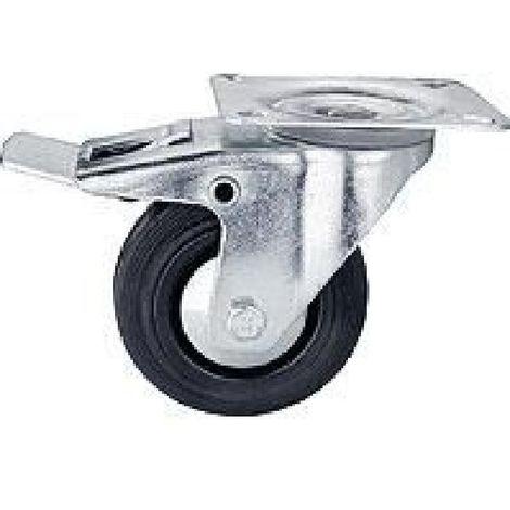 "main image of ""Roulette 100 mm pivotante avec frein"""