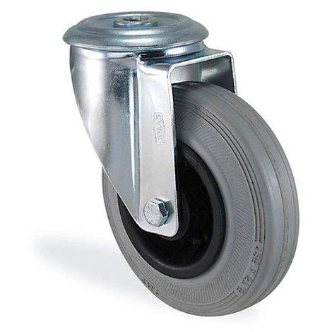 Roulette pivotante polypropylène blanc diamètre 160mm charge 220kg