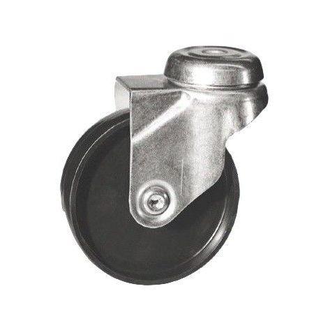 Roulette à oeil pivotante diamètre 50 mm roue polyamide noir - 50 Kg