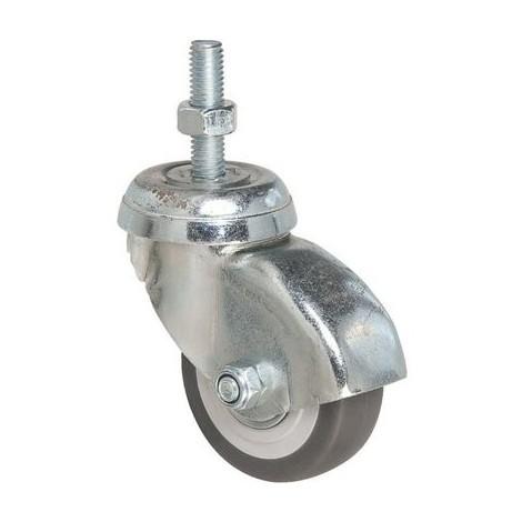 Roulette ameublement pivotante à tige CARENEX Point M / M.P.R