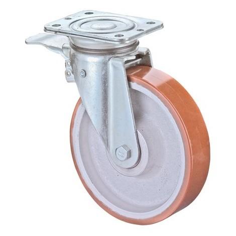 Roulette avec frein 150mm Lg K jante