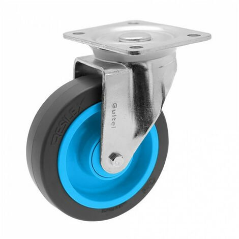 Roulette de manutention pivotante à platine Gemroll Resilex Ø125mm GUITEL