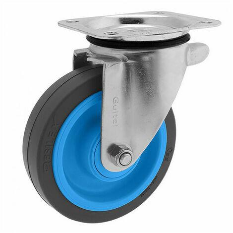 Roulette de manutention pivotante à platine Maxiroll Resilex Ø160mm GUITEL