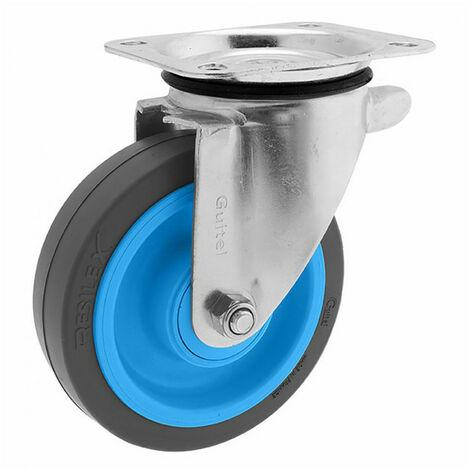 Roulette de manutention pivotante à platine Maxiroll Resilex Ø200mm GUITEL