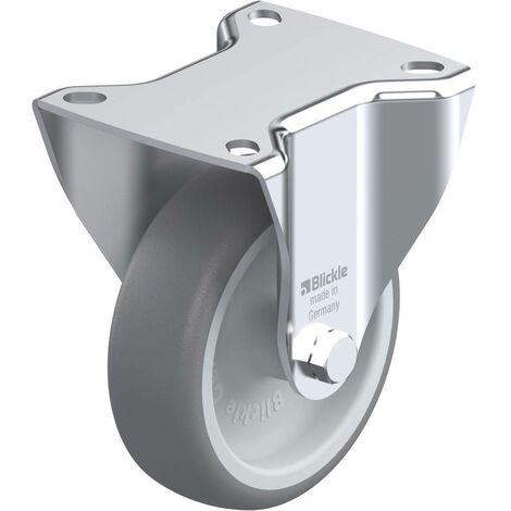 Roulette fixe caoutchouc diamètre 100mm Blickle BE-TPA 102G
