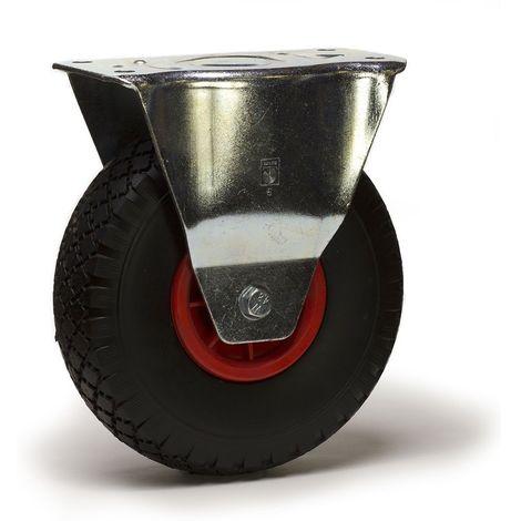 Roulette fixe diamètre 260 mm roue pneu gonflable 3.00-4 - 135 Kg