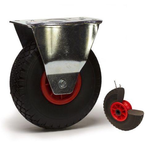 Roulette fixe diamètre 260 mm roue pneumatique increvable - 75 Kg