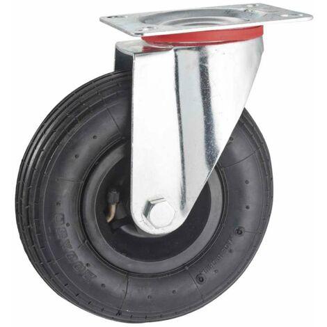Roulette gonflable pivotante 200 mm
