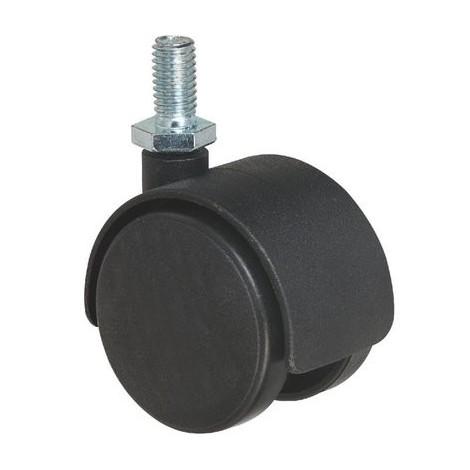 Roulette jumelée ameublement à tige filetée série S49 TF Caujolle