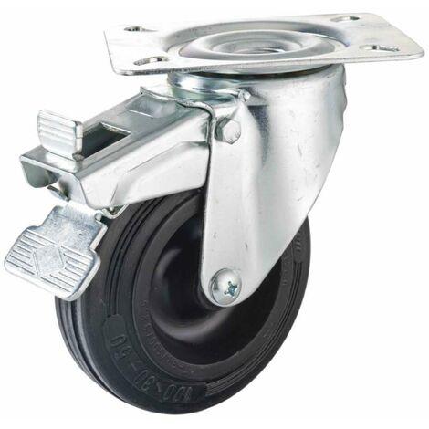Roulette pivotante 100 mm avec frein