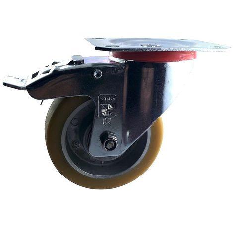"""main image of """"Roulette pivotante à frein diamètre 100 mm polyuréthane FORTHANE® - 200Kg"""""""