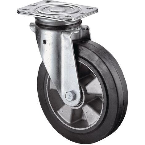Roulette pivotante de charge lourde Ø de la roue 250 mm Capacité de charge 5 caoutchouc 135 mm 110 mm