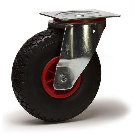 Roulette pivotante diamètre 260 mm roue pneu gonflable 3.00-4 - 135 Kg