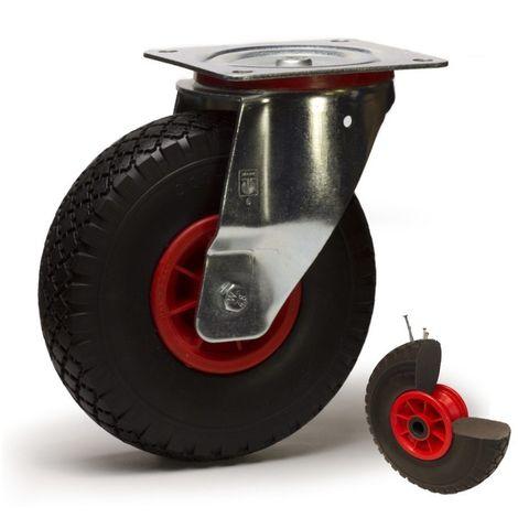 Roulette pivotante diamètre 260 mm roue pneumatique increvable - 75 Kg