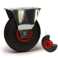 Roulette pneumatique increvable fixe 260mm - 75 Kg