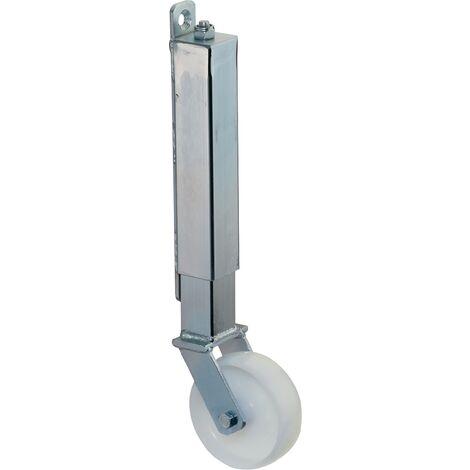 Roulette pour portail Ø de la roue 100 mm Capacité de charge 7 avec plaque de fixation plastique