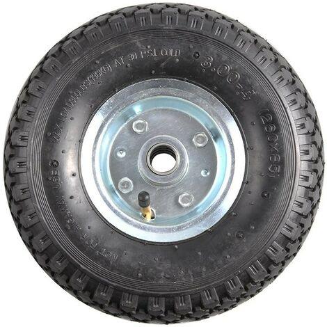 Roulette roue jockey jante métal avec pneu d'aire 260x85mm