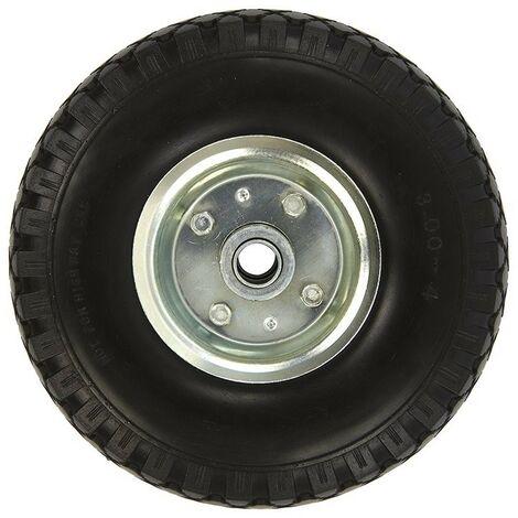 Roulette roue jockey jante métal avec pneu PU 260x85mm