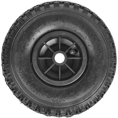 Roulette roue jockey jante plastique avec pneu d'aire 260x85mm