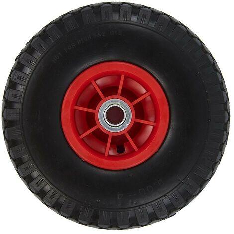 Roulette roue jockey jante plastique avec pneu PU 260x85mm