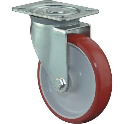 Roulette rouge 125 mm 150 KG