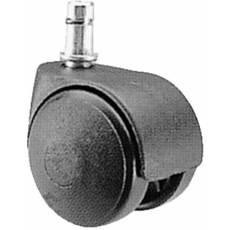Roulette Twiny polyuréthane fauteuil diamètre 50 mm, tige clip 10x30 mm