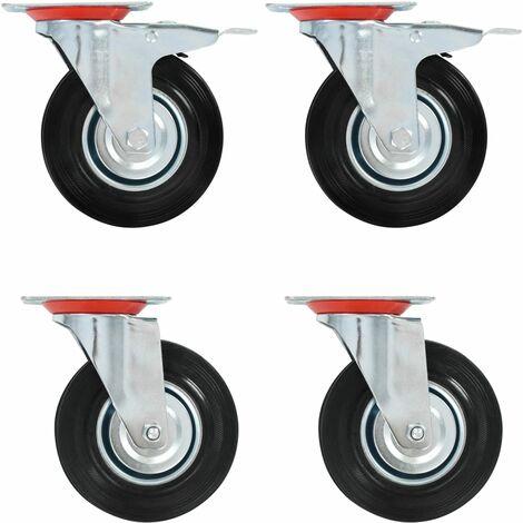 Roulettes pivotantes 4 pcs 125 mm