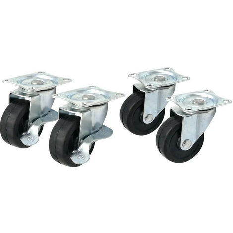 Roulettes pivotantes 50 mm - Lot de 4 gris