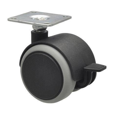 roulettes pour meubles - diamètre 50 mm x 68 mm - lot de 4 pièces